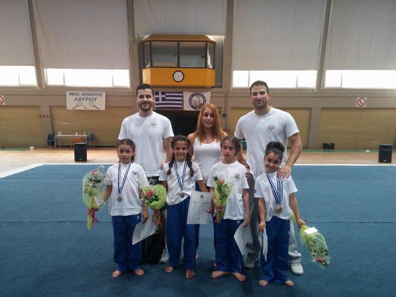 Επιτυχίες του Ο.Α.Λαυρίου στο Πανελλήνιο Πρωτάθλημα Ενόργανης Γυμναστικής